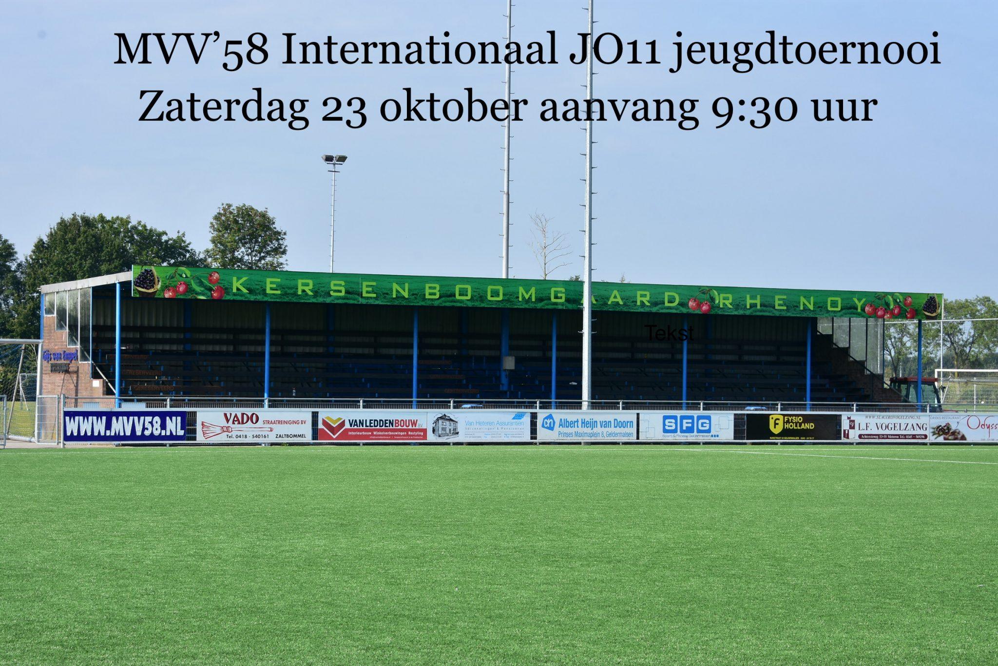 Internationaal toernooi JO11 op zaterdag 23 oktober
