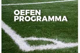 Oefenprogramma 1e en 2e elftal